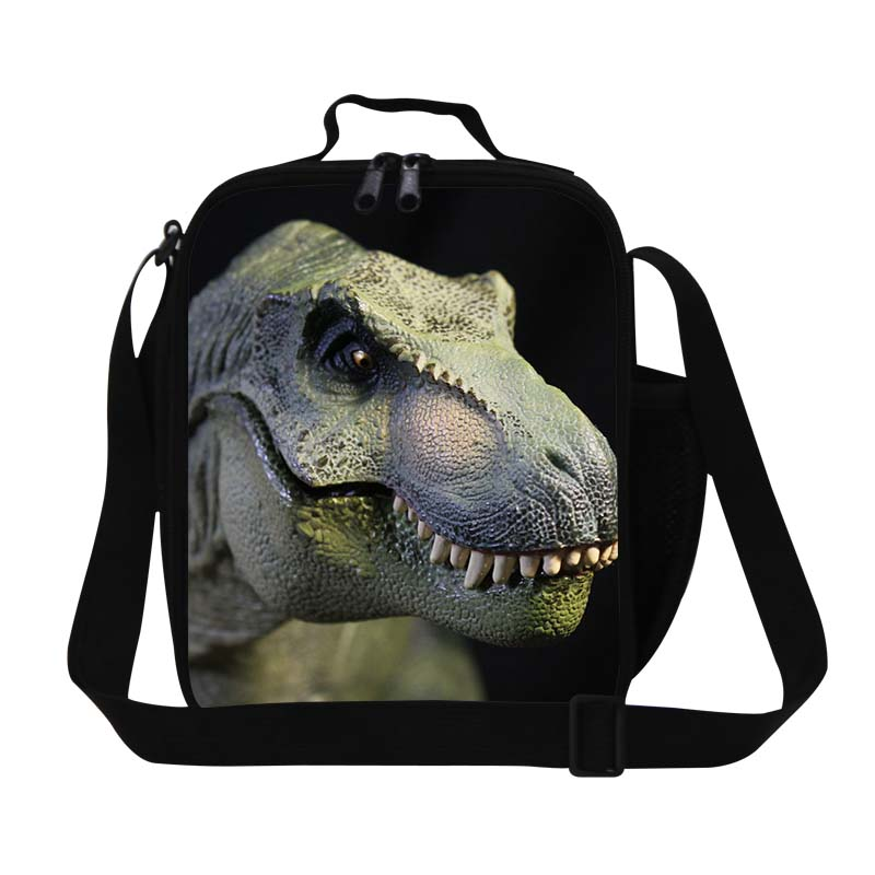 Dispalang Design Dinosaur 3D Print Lunch Bag For Boys Personalized Insulated Lunch Box For Kids Mini Food Container For Working