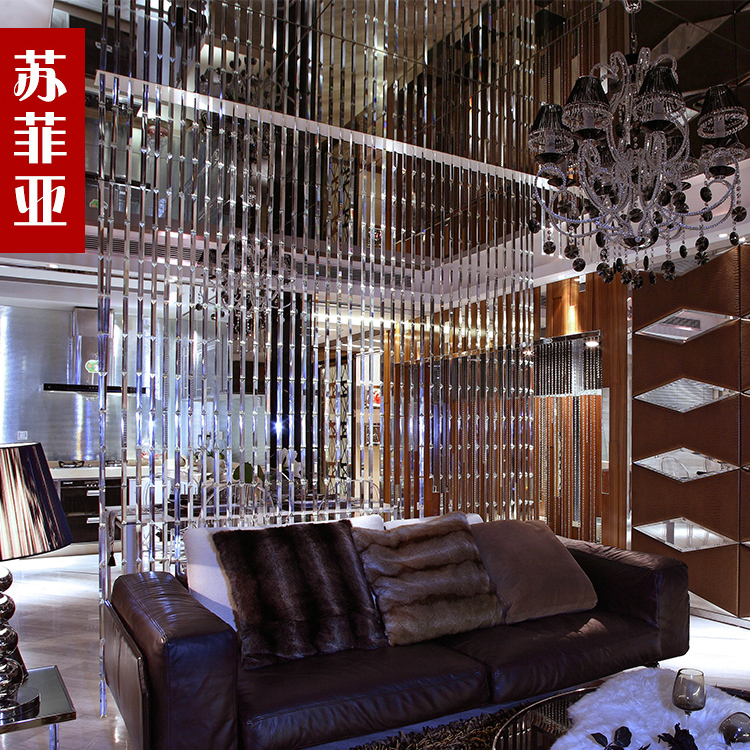 Sophia Crystal Bead Curtain Finished Off The Living Room Entrance Feng Shui Decoration Screen