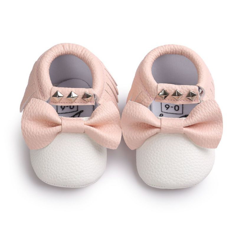 12 Colors Brand Spring Baby Shoes PU Lea