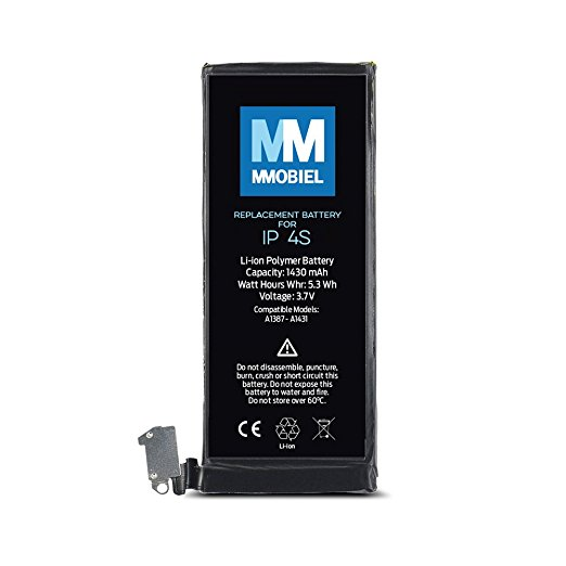 100% MMOBIEL Original Mobile Phone Battery For Iphone 4S 3,7v 1430 mAh incl. 2 x screwdrivers Free Mobile Battery MMOBIEL