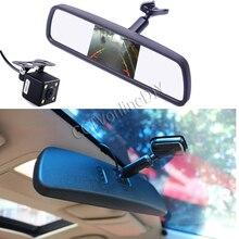 "ANSHILONG 4.3"" TFT LCD Screen Car Interior Replacement Rear View Mirror Monitor + CCD HD Backup Reversing Camera System"