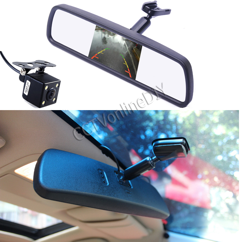 4 3 tft lcd screen car interior replacement rear view mirror monitor ccd day night hd. Black Bedroom Furniture Sets. Home Design Ideas
