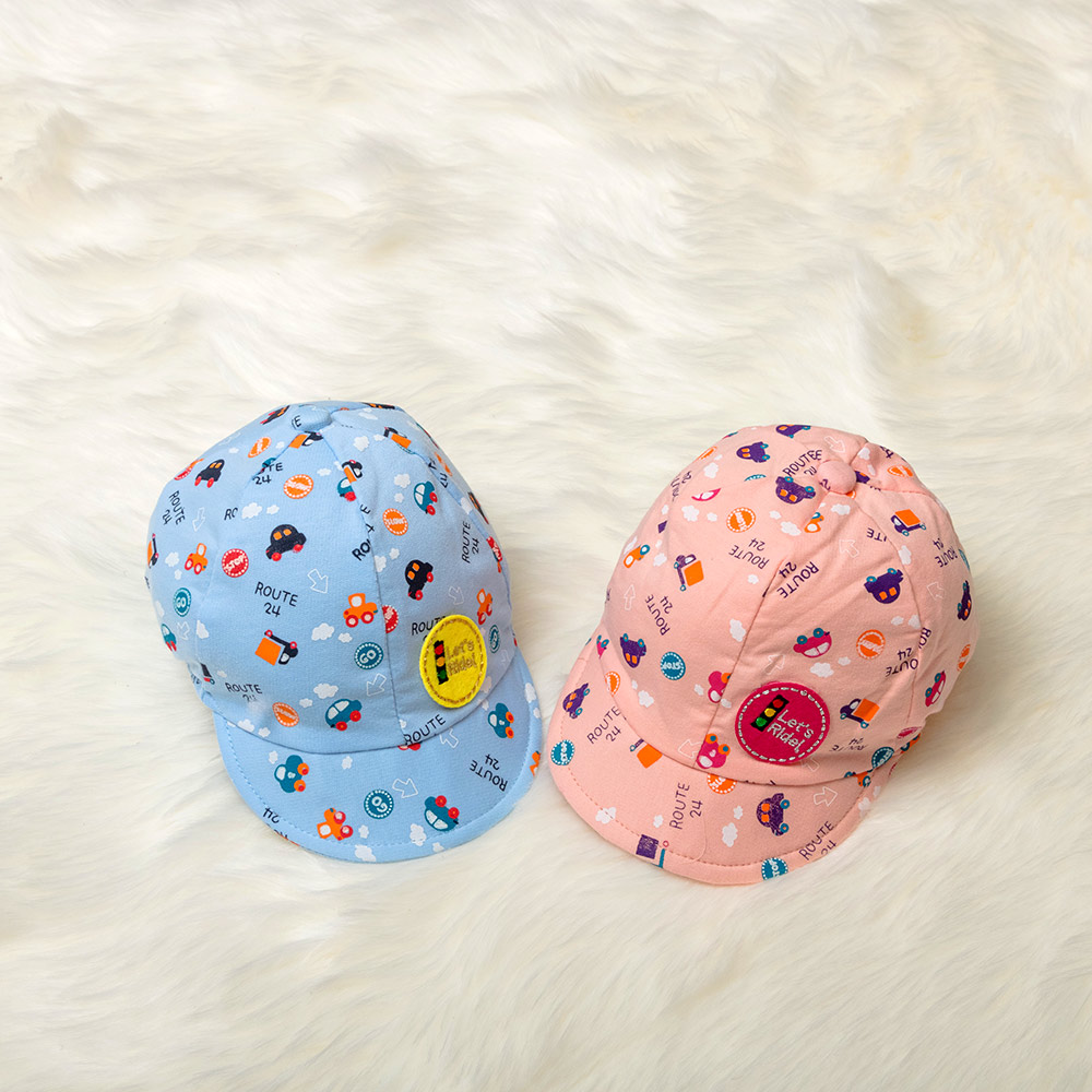 1 pc Lovely Children Visors Hat Cute Cartoon Printing Kids Boys Girls Cap Little Car Baseball Beret Cap Christmas Gift