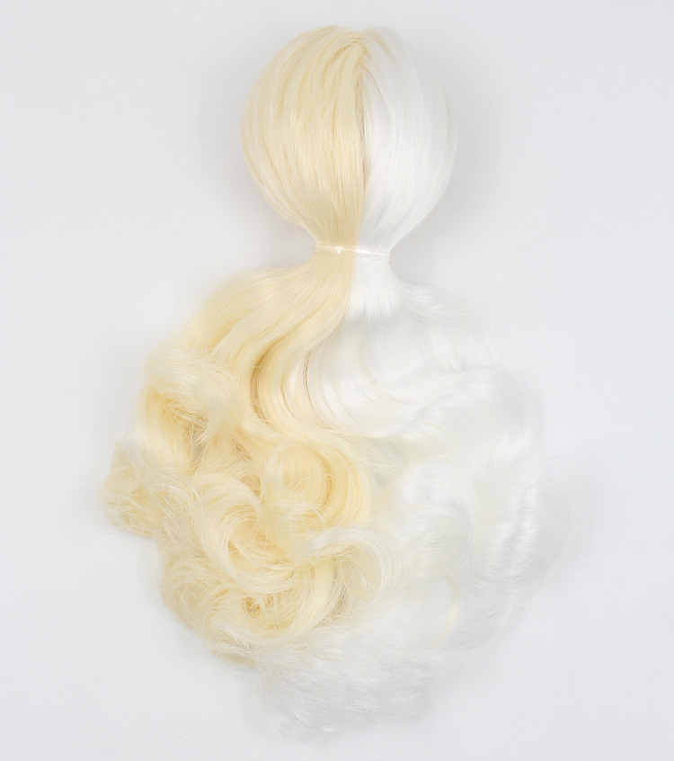 blyth doll icy blonde mix white hair wig rbl scalp witt dome