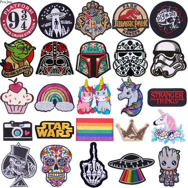 Prajna Cartoon Unicorn Patch Iron On Patches For Clothing Embroidered Patches On Clothes