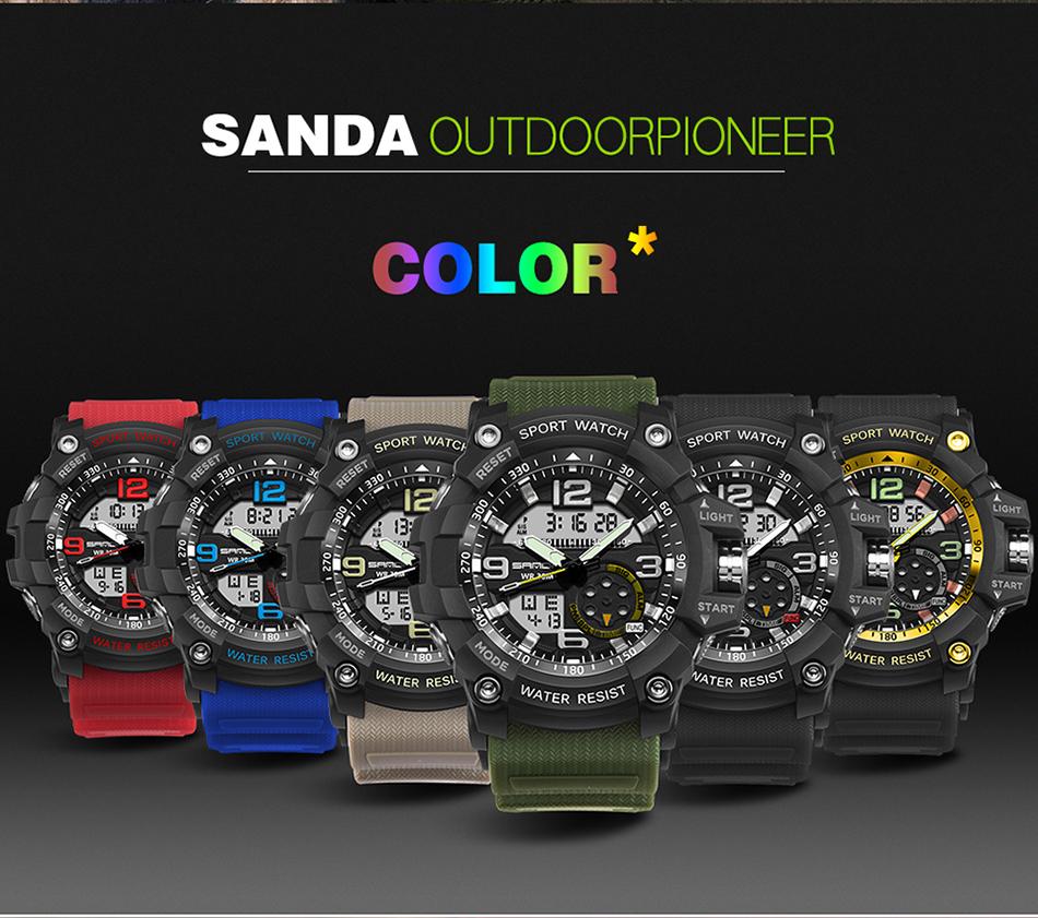 Sanda 759 Men Military Sport Watch