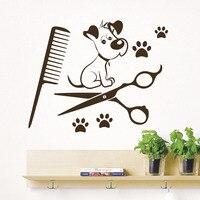 Товары для собак на стены Прайнтс салон домашних животных Животные Книги по искусству винил Наклейки на стену для Детская комната Декор