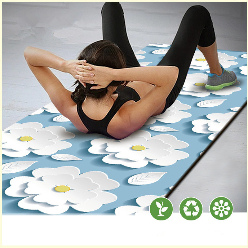 183cm*61cm 3D Print Yoga Mat Non-Slip Yoga Mat Exercise Fitness Mat Lose Weight Gym Household Cushion Fitness Pad gymnastics mat thick four folding panel fitness exercise 2 4mx1 2mx3cm
