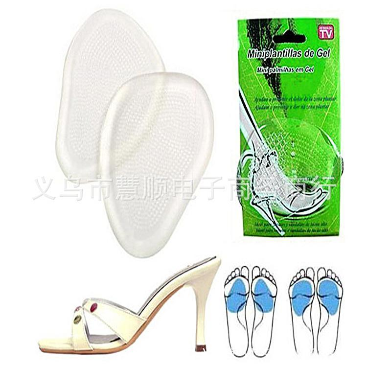 Silicone  Cushion Pads Front Insole Shoes Pad for Foot Care 10Pair/Bag  PH23
