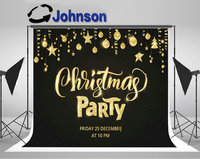 party backdrops Computer print Christmas Party Poster Template Sparkling Typography. Golden Glitter Border backgrounds