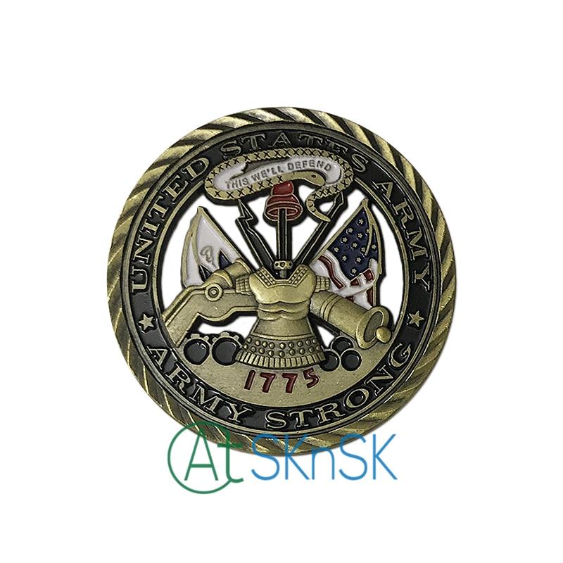 Venta al por mayor de alta calidad soucenir núcleo valores artesanías moneda coleccionable 1775 monedas conmemorativas unir Estados ejército desafío monedas - 3