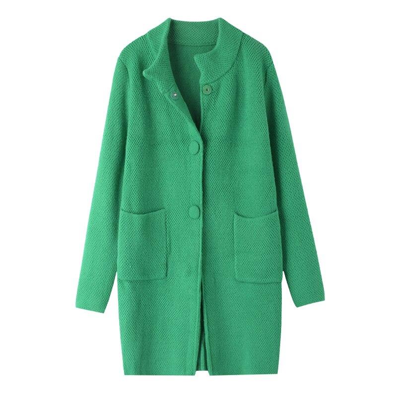 Nouveau Manteau Couleur Hiver Simple Chandail 46704 Boucle 2018 Solide Md3b Cerise Longue Lâche Rangée Section Chaud Foncé wE6qXpnx