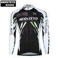 MERSTEYO Homens Pro Equipe de Bicicleta jersey Manga Comprida Ciclismo roupas legal Preto Equitação Top Masculino MTB Desgaste Ropa ciclismo Camisas Jakets