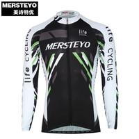 MERSTEYO Pro Mannen Fiets jersey Lange Mouw Team wielerkleding Cool Zwart Riding Top Mannelijke MTB Wear Ropa Ciclismo Shirts Jakets
