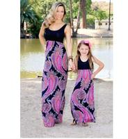 2017 Summer Mother Daughter Dress Floral Family Matching Clothes Family Look Mother Daughter Clothes Mom And
