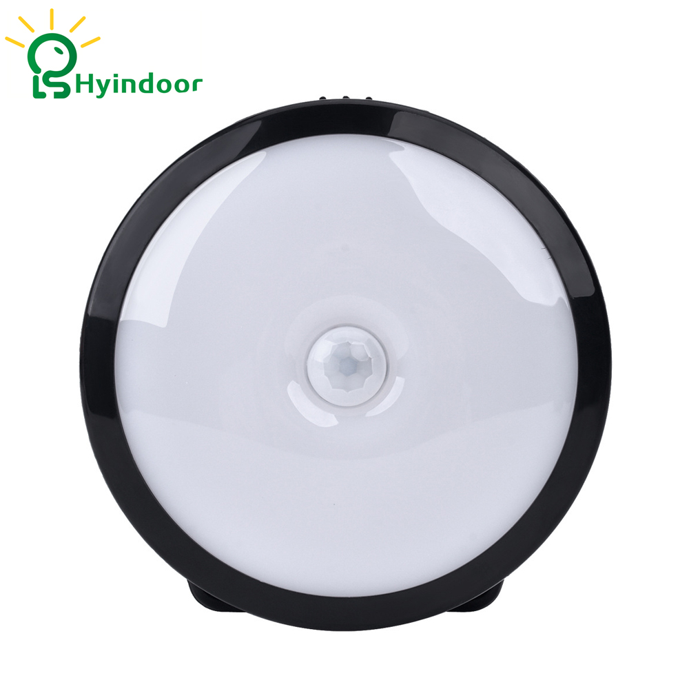 Hyindoor 6Pcs Motion Sensor Bright LED Night Light Human Body Induction Wall Lamp for Hallway, Bedroom, Closet and Stair