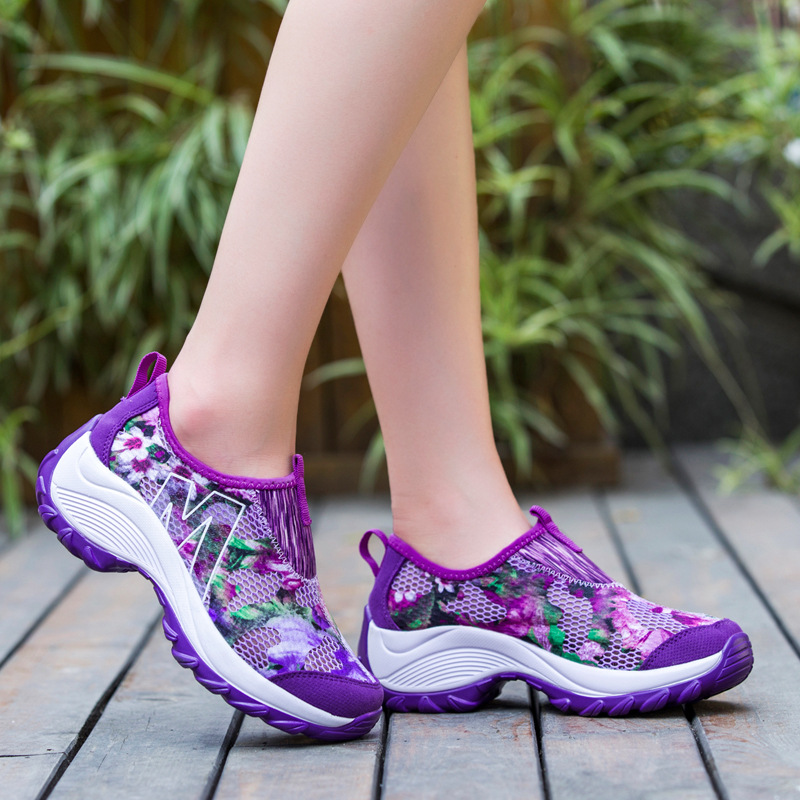 Women Casual Shoes Breathable Fashion Shake Shoes High Quality Flat Platform Floral Pattern Woman Zapatos Mujer 4 Color free shipping barrel 32mm bore 400mm stroke mal32 400 aluminum alloy mini cylinder pneumatic air cylinder mal32 400