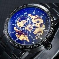 2017 Brand Luxury Sport Men Automatic Watch Skeleton Military Mechanical Watch Male Montre Relojes Relogio Masculino