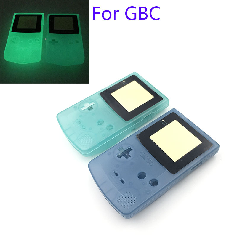 5pcs Luminous Green Blue Shell Housing for GameBoy Color For GBC Night Lighted Shell Cover Case