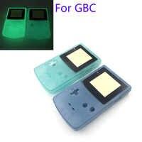 5 uds brillantes verdosos carcasa azul para GameBoy Color para GBC noche iluminado funda carcasa