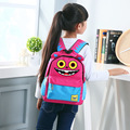 Children school backpack cartoon smile monster pattern primary student book rucksack boys girls waterproof