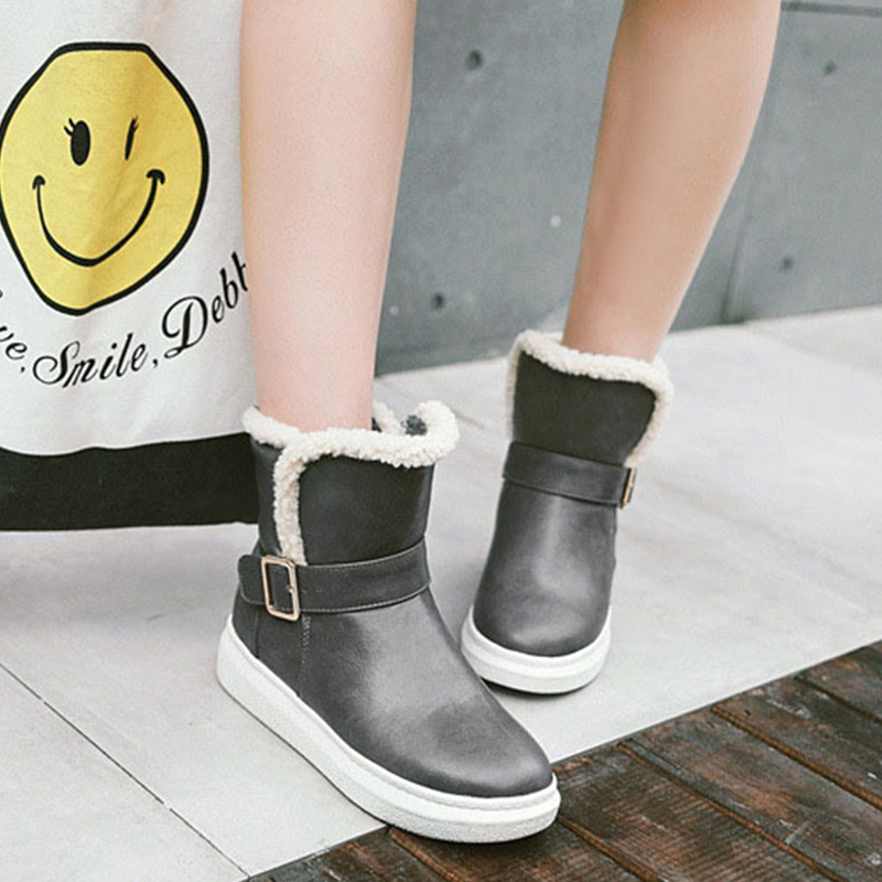 588d97613b Grueso Hebilla Nb206 Invierno Grey De Señoras Mujer Cinturón black Fondo  Botas Zapatos Nieve Cómodas AqYpxaxg