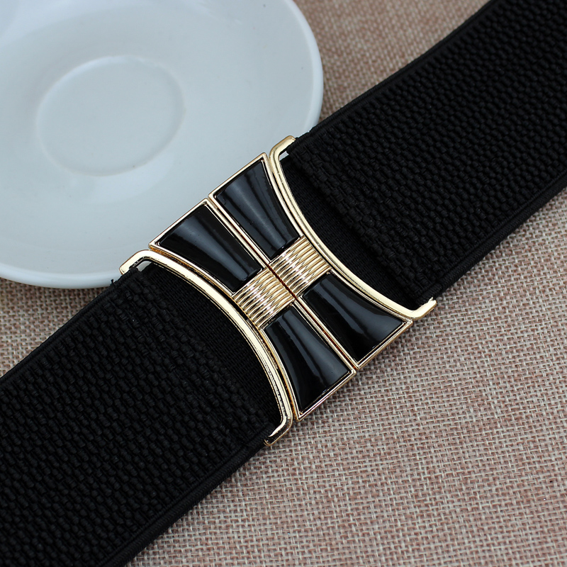 New High Quality Hot Brand Fashion Black Corset Belt  Elastic Belt  Wide Waist Belts Women