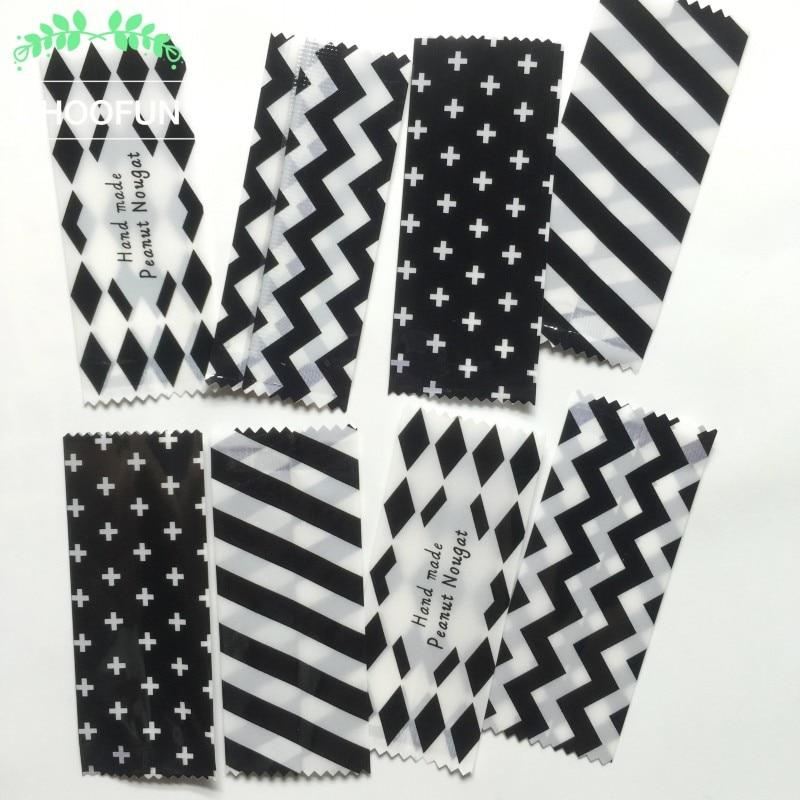 100pcs/lot 3.5*8.5cm Cute Heat Sealing Plastic Candy Bags Hand Made Peanut Nougat Packaging Bags BZ264