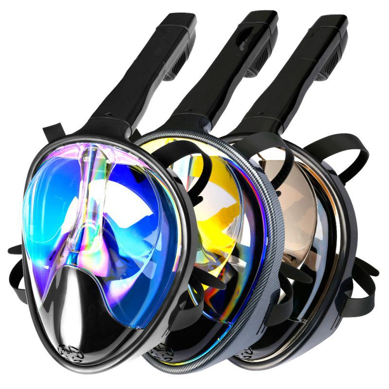 Masque de plongée complet vue panoramique Anti-buée Anti-fuite natation tuba plongée sous-marine anti-dérapant masque de plongée sous-marine adulte enfants