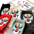 1Pair/lot Chinese Style Types Of Facial Make-up In Opera Creative Fashion Cotton Socks For Men Chaussette  Calcetines HK009