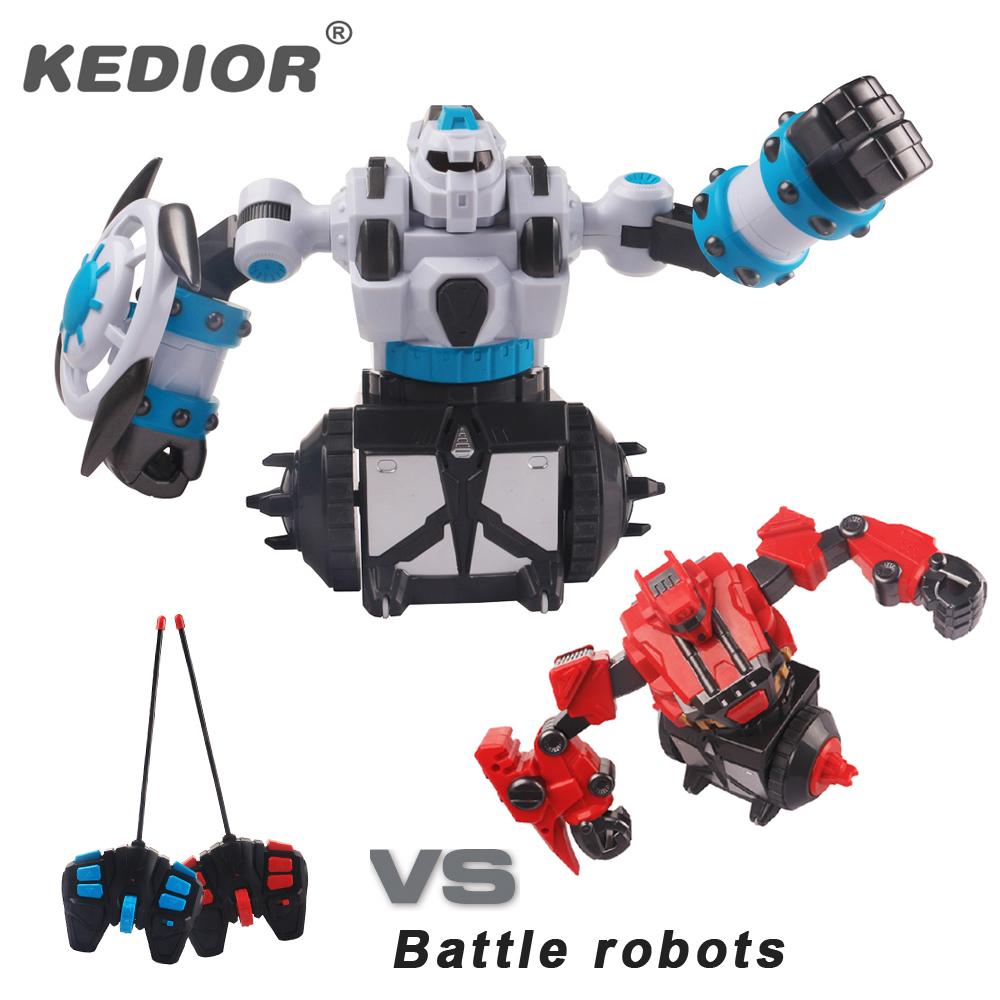 nueva llegada de rotacin de boxeo lucha rc robot de juguete inteligente batalla robot interactivo de