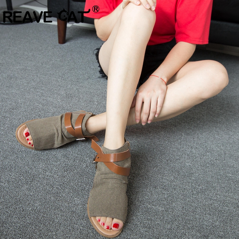 Doble A601 Reave black Mujeres Moda Peep brown Toe De Hebillas Planos White Verano Gato Zapatos Sandalias AHwxBAq