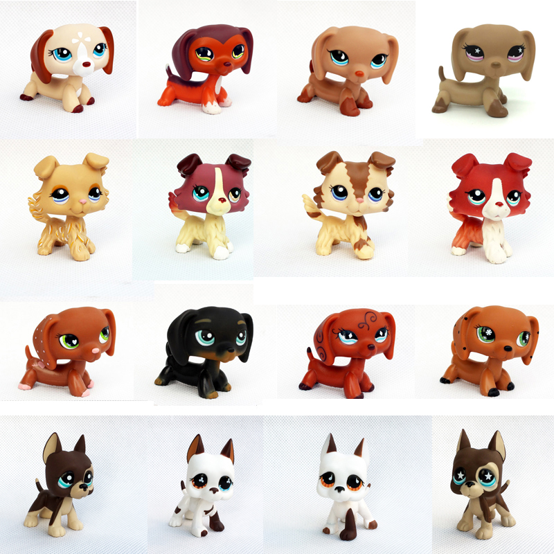 rare pet shop lps toys animal original old dog collection figure collie dachshund cocker spaniel Great