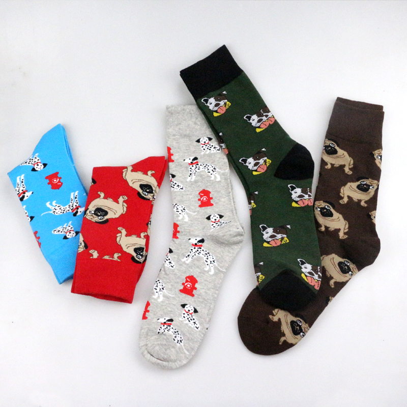Funky Dog,Pet,Pug,Shiba Inu,Beagle,Buldog Socks Novelty Hosiery Women Ladies Socks Men Unisex Winter Cotton Happy Socks Female