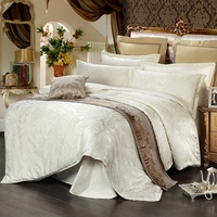 New Product Satin Jacquard Quilt Cover Bed Sheets Pillowcase Warm And Breathable Home Textile Bedding