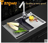 Tangwu Nice hand sink single groove vegetable washing basin stainless steel kitchen package thickening Basin 69x44 cm