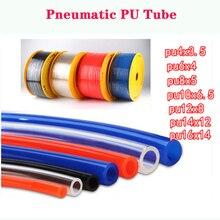 Детали пневматических труб, воздушные трубки, 4*2,5 мм, 6*4 мм, 8*5 мм, коннектор для шланга, ПУ, воздушный шланг для компрессора, пневматическая трубка