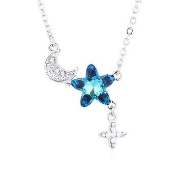 43da363a124c BAFFIN flor colgante gota pendientes cristales de Swarovski para mujeres  Color plata oreja joyería ...