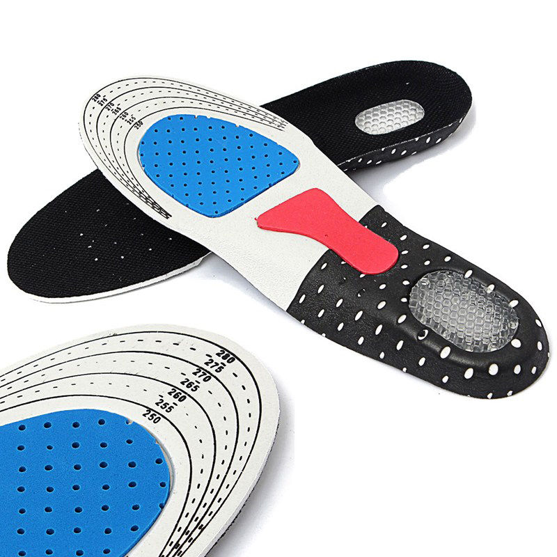FVYVL Women Men Gel Orthotic Sport Running Insoles Insert Shoe Pad Arch Support Cushion socomfy men women gel orthotic support insoles heel arch foot blisters sport pad cushion