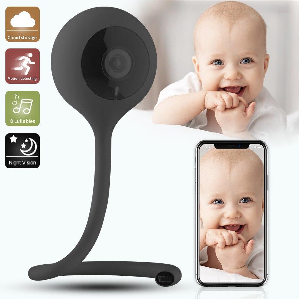 SDETER Nanny Camera Baby Monitor Camera Wifi Bebe Security Camera Intercom 2 Way Talk Night Vision Temperature Monitor Lullaby