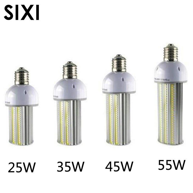 DHL livraison 6 pcs/lot led ampoule de rue AC85-265V 25 W 35 W 45 W 55 W E27/E40 led rue ampoule lampe épis de maïs led led parking lot lumière