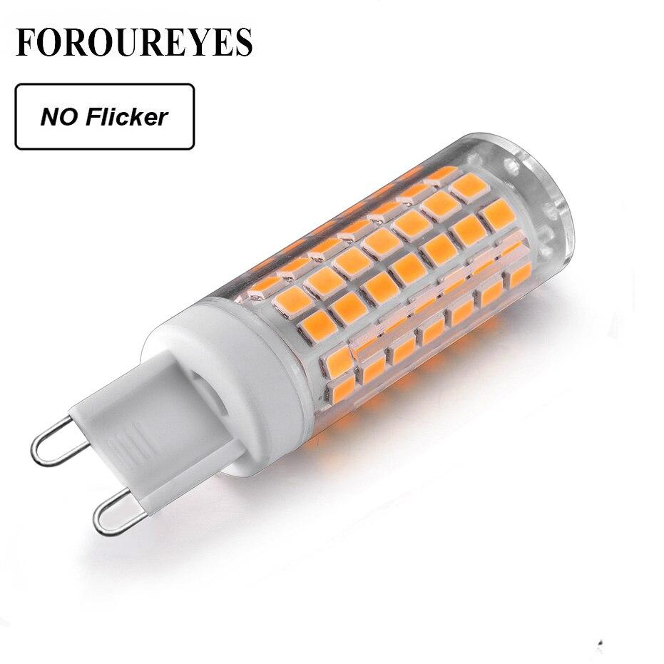 G9 светодиодный светильник AC220V 110В без мерцания с регулируемой яркостью светодиодный светильник 2835SMD 6 Вт 690LM супер яркий светильник люстры заменить галогенную лампу 70 Вт