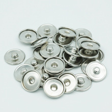 free DHL 1000pcs/lot snap new button Jewelry Metal Snap Accessories for inside 18mm outside 20mm Bracele