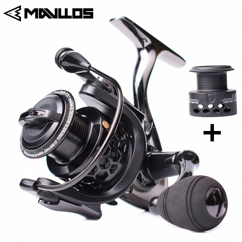 Mavllos Saltwater Carp Spinning Fishing Reel 15BB Ratio 5.5:1 1000-7000 Model 2 Spools Metal Body Sea Boat Jigging Fishing Reel(China)