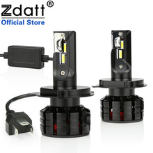 Zdatt H7 LED H4 LED H11 Canbus Car Light Headlight Bulb CSP 12000LM H8 H1 HB3 9005 9006 H9 100W 6000K 12V 24V Auto HB4 Led Lamp цены онлайн