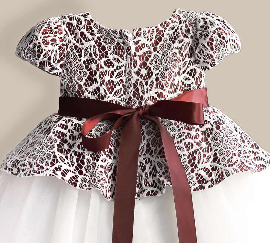 4e4e3408c59a7 Lace Flower Girl Dress TUTU style Silk Belt Princess Kids Dresses 3 colors  leopard Girls Party Dress for 1-6T