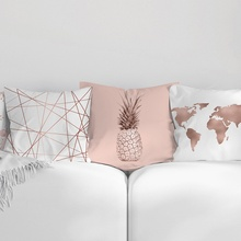 45*45cm Square Pillowcase Home Decoration Rose Gold Pink Cushion Cover Nordic Sofa Throw Pillows New