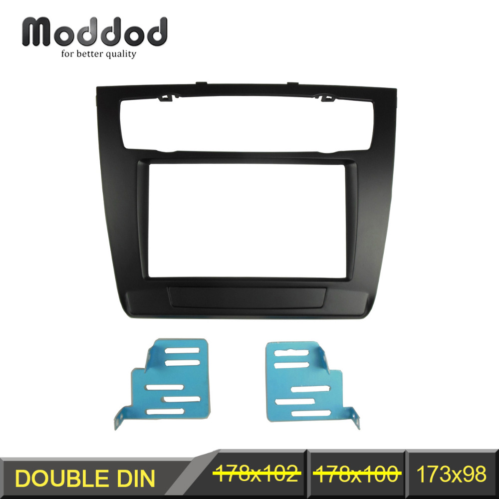 Double Din Radio Fascia for BMW Series 1 E81 E82 E87 E88 CD DVD GPS Stereo Panel Dash Mounting Trim Kit Frame Facia car radio dvd cd fascia panel for faw oley 2012 stereo dash facia trim surround cd installation kit