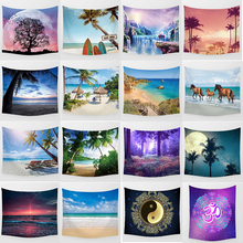 Hot sale beauty sea landscape large tapestry Wall Hanging Printed home decoration bedroom Medium
