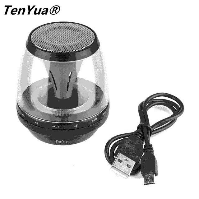 Us 88 20 Offtenyua Mini Bluetooth Głośniki Bezprzewodowe Z Oświetlenie Led Lights 4 Tryb Tryb Głośnomówiący Stereo Super Bass Głośnik